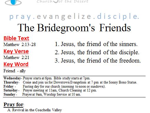The Bridgegroom's Friends