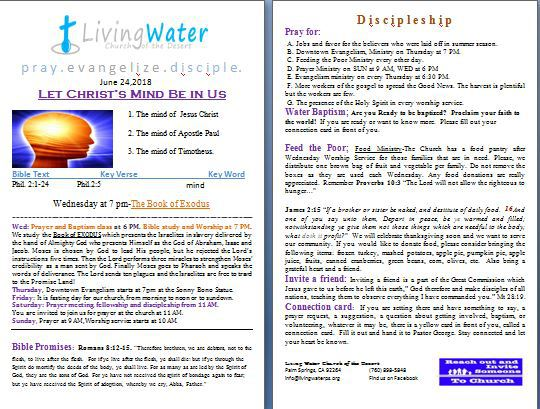 Living Water Church of Palm Springs believes in the power of
